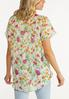 Plus Size Sheer Floral Top alternate view