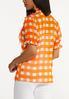 Plus Size Orange Checkered Top alternate view