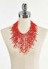 Coral Seed Bead Statement Necklace alternate view