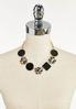 Leopard Black Shape Chain Necklace alternate view
