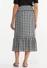 Plus Size Smocked Gingham Midi Skirt alternate view