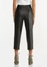 Cropped Faux Leather Pants alternate view