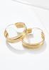Gold Textured Hoop Earrings alternate view