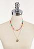 Layered Inspirational Bead Disc Necklace alternate view