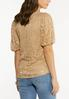 Plus Size Lace Balloon Sleeve Top alternate view