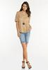Plus Size Lace Balloon Sleeve Top alt view