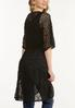 Plus Size Black Lace Kimono alternate view