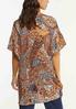Plus Size Ruffled Paisley Kimono alternate view
