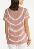Plus Size Knotted Tie Dye Lounge Top alternate view