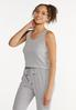 Cropped Ribbed Tank Top alt view