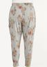 Plus Size Blush Floral Joggers alternate view