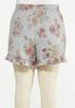 Plus Size Ruffled Floral Shorts alternate view
