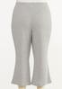 Plus Size Cropped Ribbed Lounge Pants alternate view