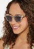 Leopard Cat Eye Sunglasses alt view