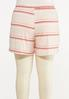 Plus Size Striped Hacci Shorts alternate view