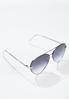 Tear Shaped Aviator Sunglasses alt view