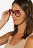 Pink Lens Tortoise Trim Sunglasses alternate view