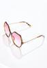 Pink Lens Tortoise Trim Sunglasses alt view