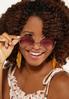 Pink Lens Round Sunglasses alternate view