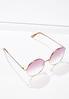 Pink Lens Round Sunglasses alt view