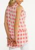 Coral Gingham Top alternate view