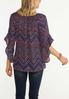 Plus Size Berry Chevron Bell Sleeve Top alternate view