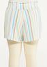 Plus Size Gauzy Summer Stripe Shorts alternate view
