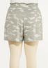 Plus Size Textured Camo Shorts alternate view