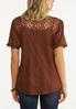 Plus Size Embroidered Balloon Sleeve Top alternate view