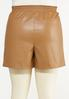 Plus Size Faux Leather Shorts alternate view