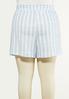 Plus Size Stripe Knit Skort alternate view