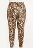 Plus Size Cropped Leopard Leggings alternate view