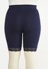 Plus Size Lace Trim Biker Shorts alternate view