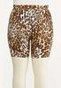 Plus Size Leopard Biker Shorts alternate view