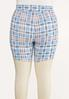 Plus Size Summer Plaid Biker Shorts alternate view