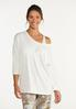 Plus Size Cutout French Terry Top alt view