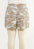 Plus Size Camo Drawstring Shorts alternate view