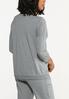 Plus Size Cutout Shoulder Sweatshirt alternate view