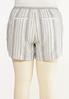 Plus Size Pepper Stripe Linen Shorts alternate view
