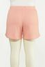 Plus Size Blushing Ribbed Shorts alternate view