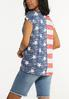 Plus Size Stars And Stripes Knotted Tee alternate view
