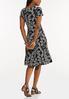 Plus Size Summer Leaf Seamed Dress alternate view