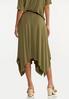 Plus Size Olive Hanky Hem Skirt alternate view