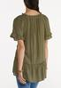 Plus Size Olive Ruffled Tunic alternate view