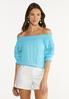 Puff Lace Sleeve Poet Top alt view