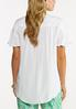 Plus Size White High- Low Top alternate view