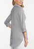 Plus Size Striped Button Down Shirt alternate view