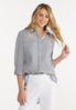 Plus Size Striped Button Down Shirt alt view