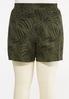 Plus Size Palm Tencel Shorts alternate view