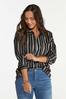 Plus Size Frayed Stripe Tunic alt view